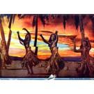 Hawaiian Scenes Hula Dancers
