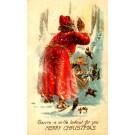 Santa Claus & Toys Birds Christmas