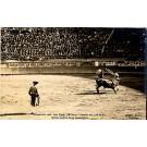 Bull Fight Real Photo Mexico