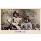 Children w/ Postcard Album RP French
