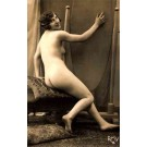 French Risque Smiling Nude RP