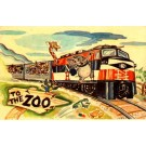 Phonograph Record Bronx Zoo Train Advert