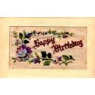Embroidered Silk Rose Birthday