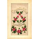 Embroidered Silk Roses