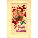 Embroidered Silk Sailboat Christmas