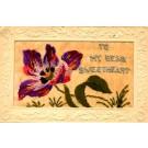 Embroidered Silk Flower