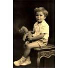 Sitting Boy Holding Teddy Bear RP
