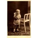 Girl with Teddy Bear near Chair RP