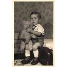 Sitting Boy with Teddy Bear RP