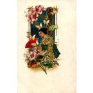 Japanese Lady with Fan Art Nouveau