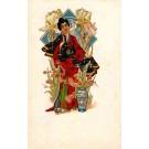 Art Nouveau Japanese Lady French