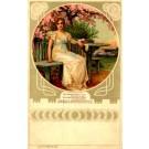 Art Nouveau Lady under the Tree