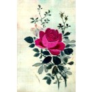 Embroidered Silk Rose Butterfly