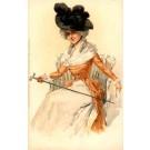 Lady Hat Art Nouveau German