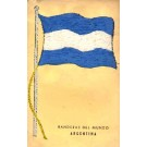 Embroidered Silk Argentina Flag