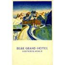 Grand-Hotel Ice Skating Swiss Poster