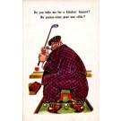 Golf Player Pipe Comic British