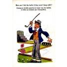 Golf Player Cigar Comic British