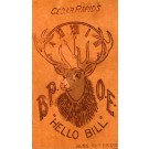 Elks Deer Clock Leather Novelty