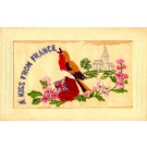Bird Embroidered Silk Novelty