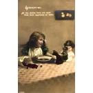 Teddy Bear Dolls Girl Hand-Tinted RP