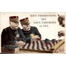 Chess Soldiers WWI Satire