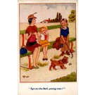 Golf Boy Dog Humorous British