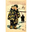 Japanese Art Nouveau Mother Son