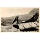 Japanese Barge WWII Real Photo