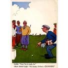Golf Players Humorous British Beer