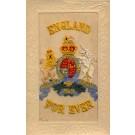 Embroidered Silk Lion Unicorn England Crest